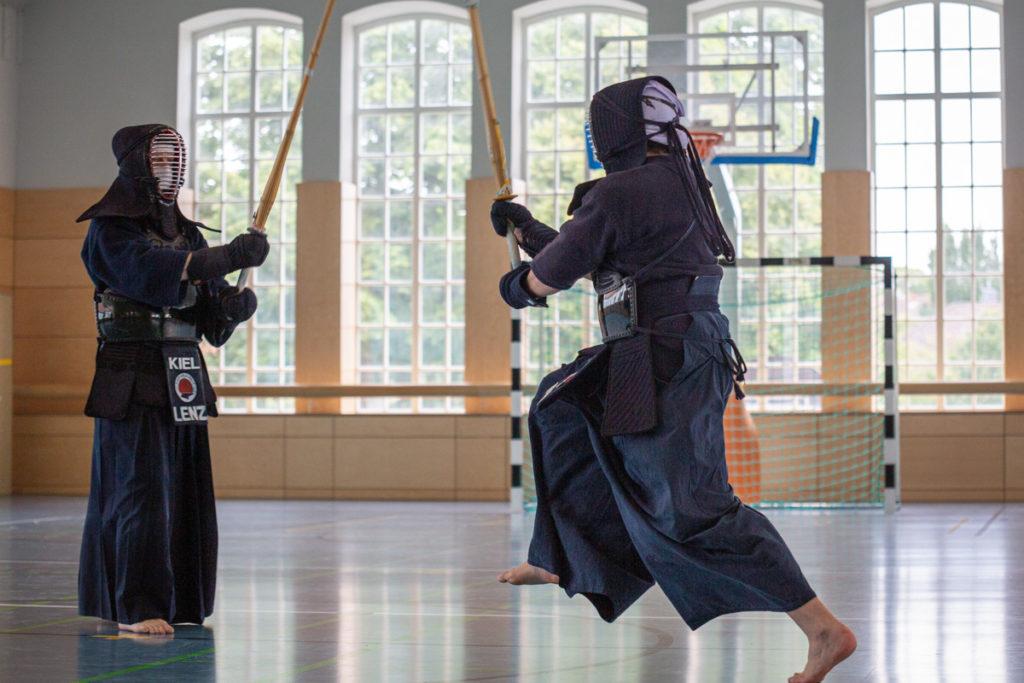 Kendo Kiel Trainingskampf Action