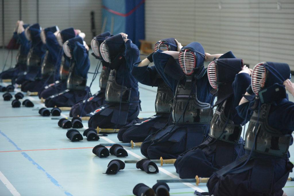 Ken-Dojo Kiel Rüstung anlegen Kendo